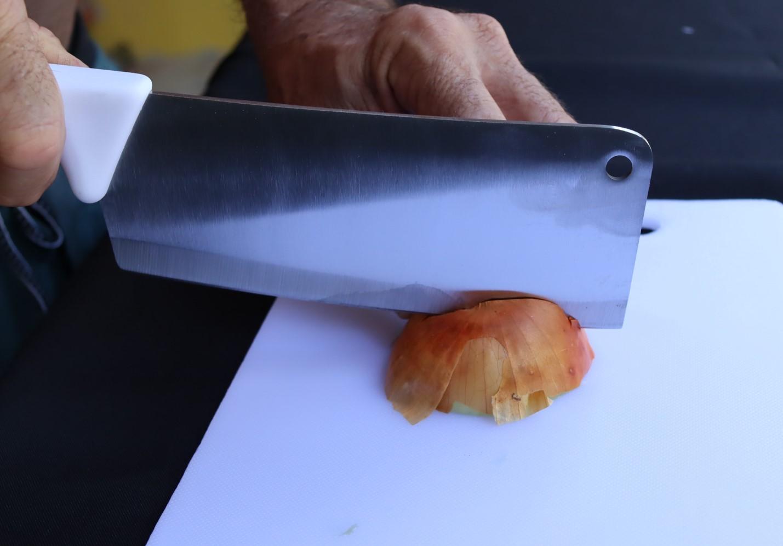 Cutelo açougueiro cozinha churrasco profissional branca inox 7pol