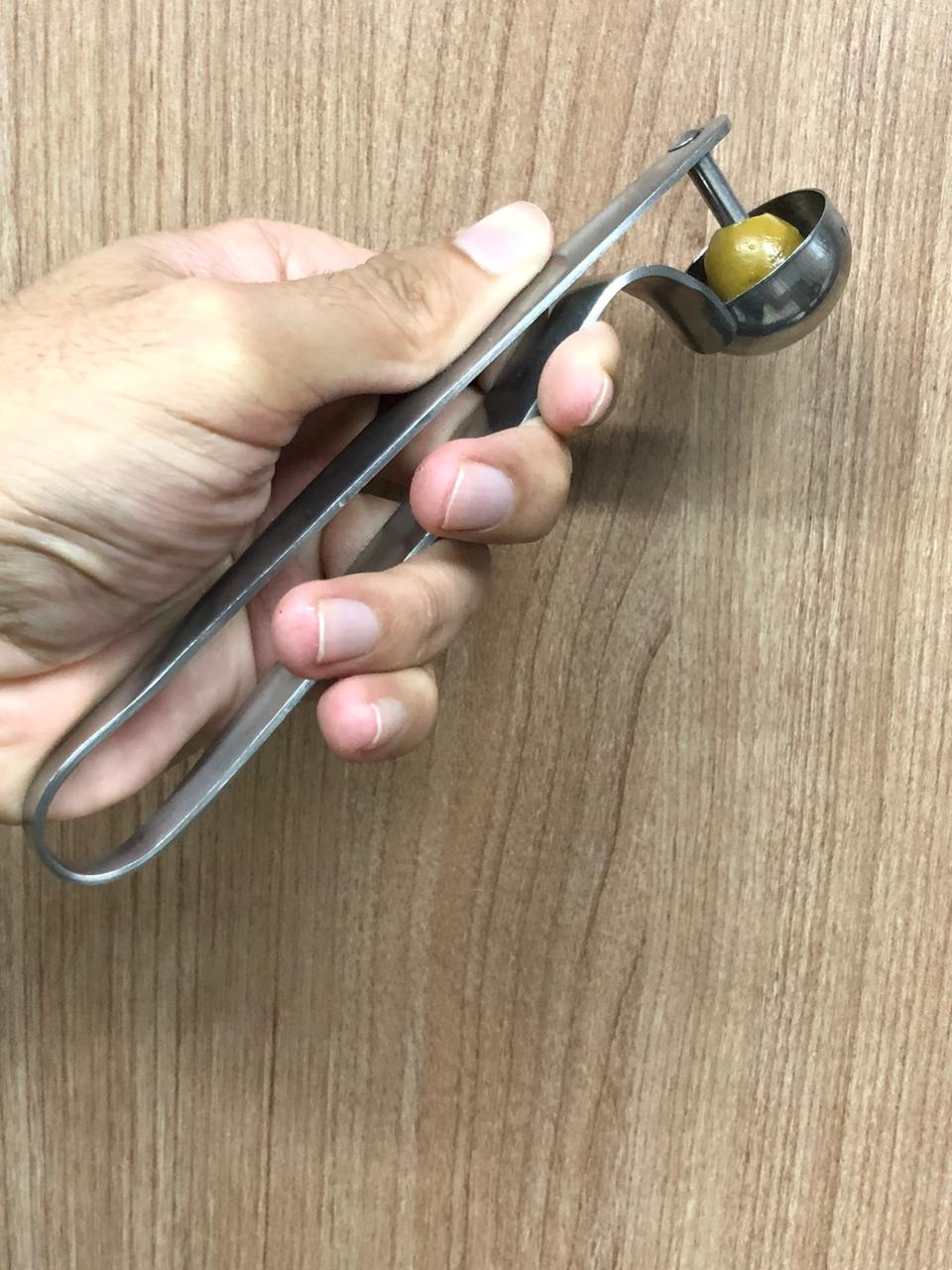 Descaroçador de azeitona aço inox 17cm utensilio MimoStyle