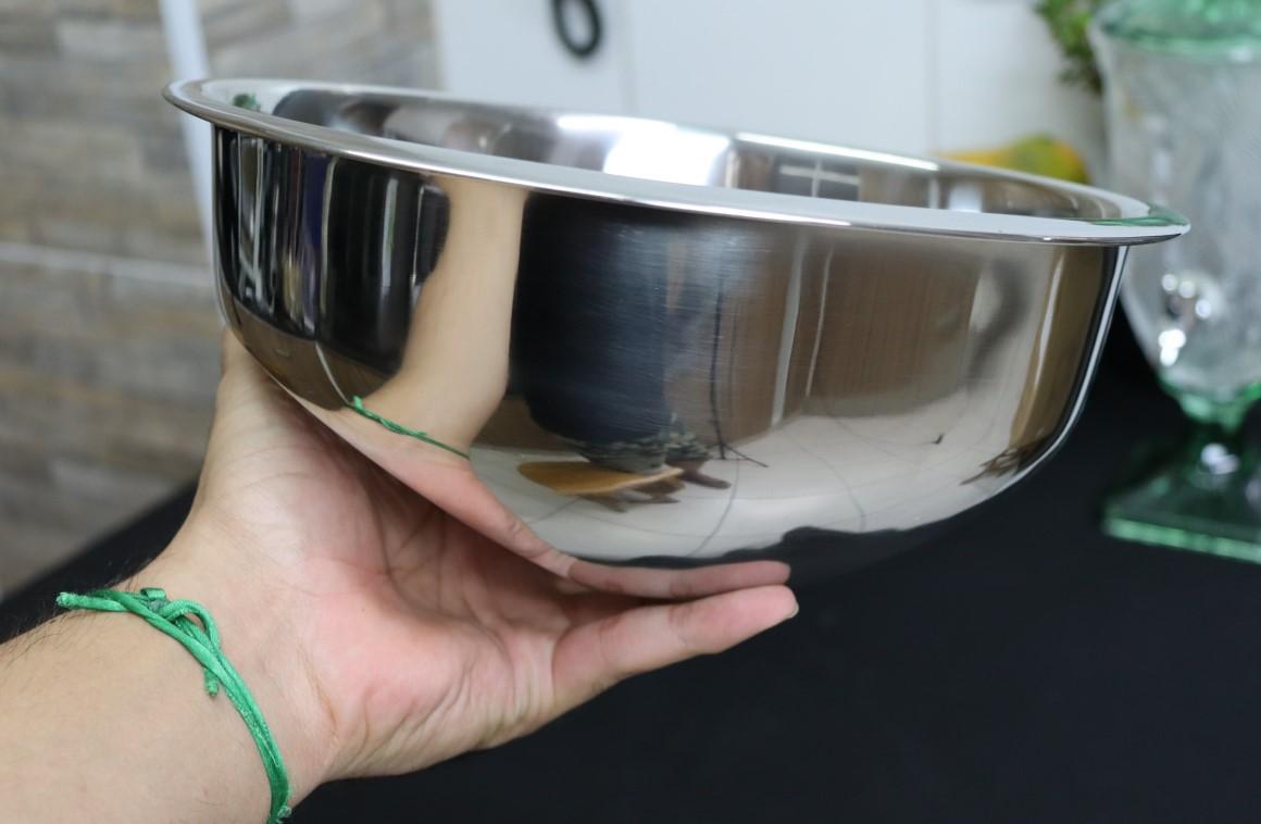 Escorredor de arroz inox peneira de cozinha coar e escorrer 26x11cm