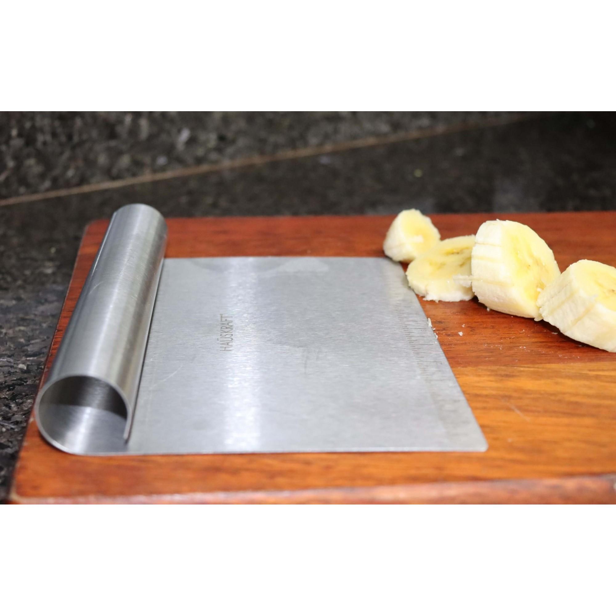 Espátula cortador massas de cozinha em aço inox raspadoras espatula confeiteiro padeiro