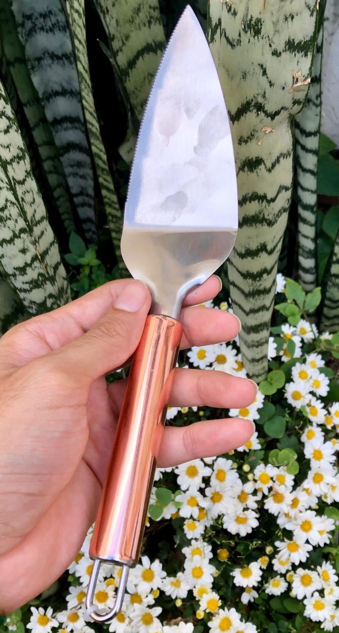 Espatula para bolo aço inox rose cobre 27 cm MimoStyle