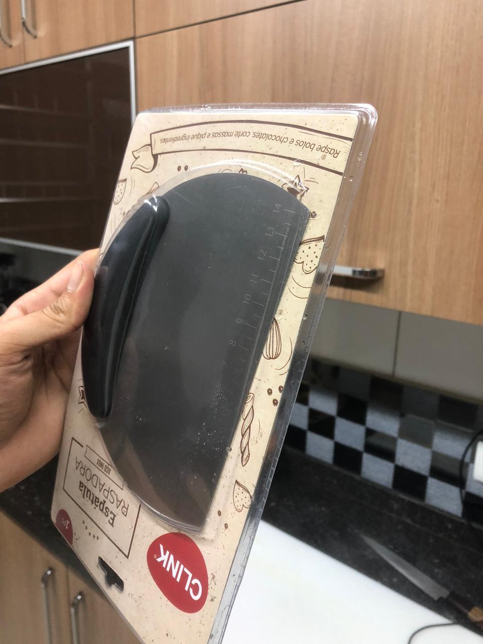 Espatula para massas cortar legumes em aço inox raspadoras confeiteiro padeiro