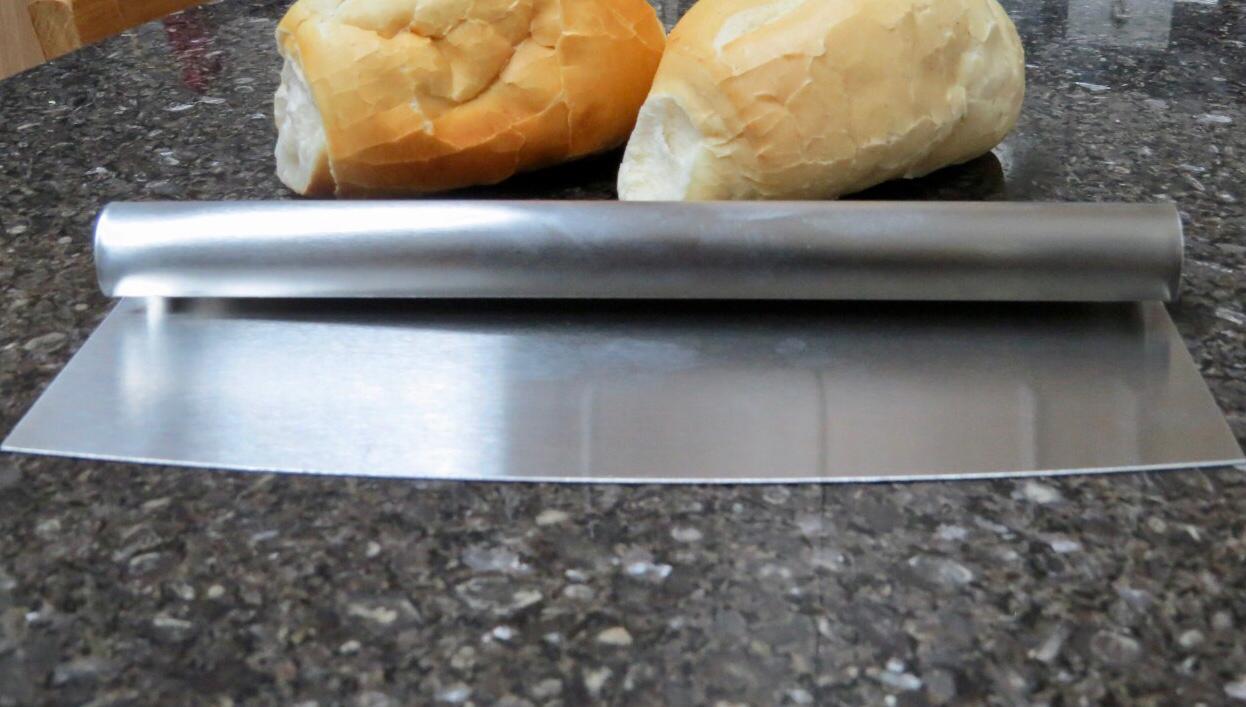 Espatula para massas pizzas pães Mimo Style em aço inox 25x9cm raspadoras espatula confeiteiro padeiro