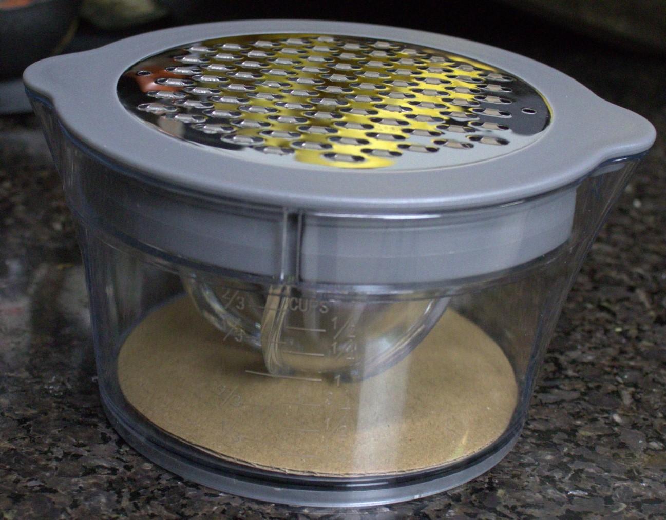 Espremedor de laranja limão ralador separador de claras manual frutas com base para suco qualidade cinza