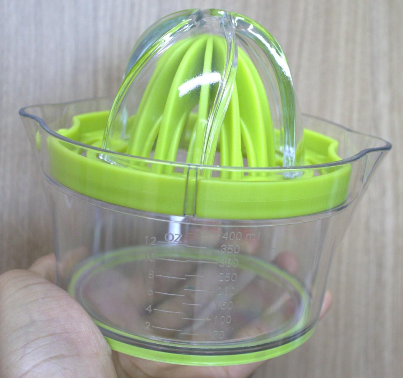 Espremedor de laranja limão ralador separador de claras manual frutas com base para suco qualidade verde