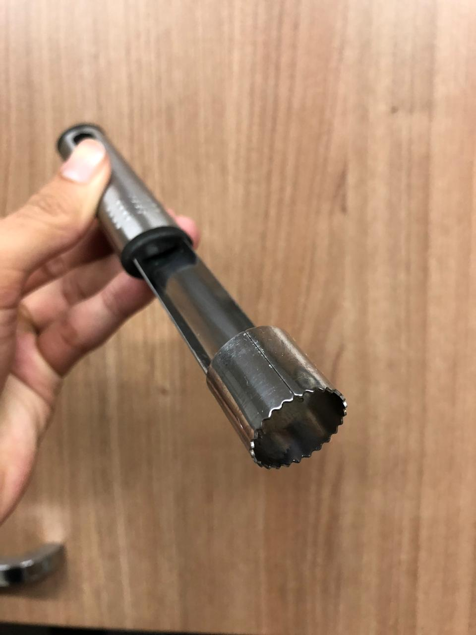 extrator de polpa para frutas aço inox qualidade mimostyle 19cm