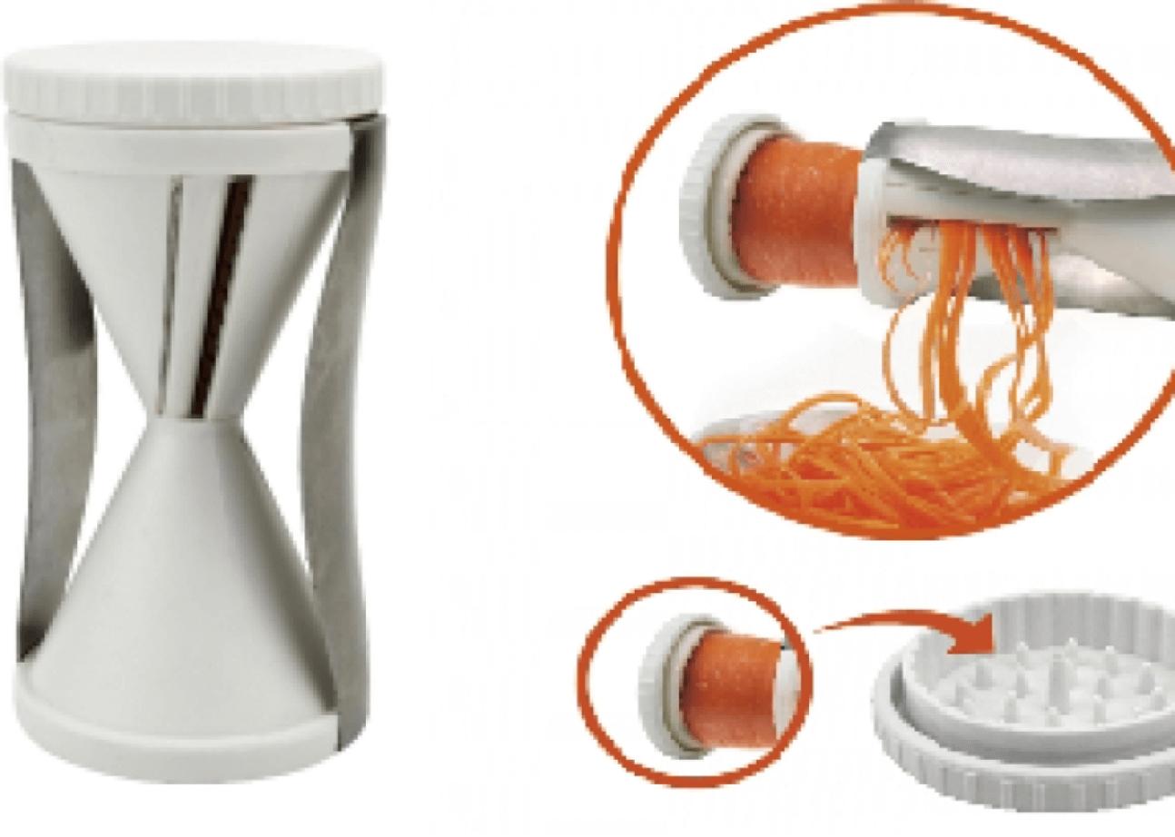 Fatiador cortador ralador de legumes vegetais espiral macarrão abobrinha  branco