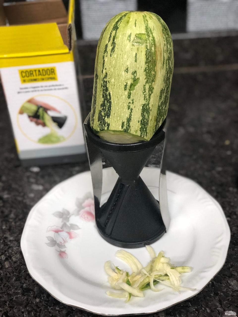 Fatiador de legumes vegetais macarrão abobrinha preto Mimo Style