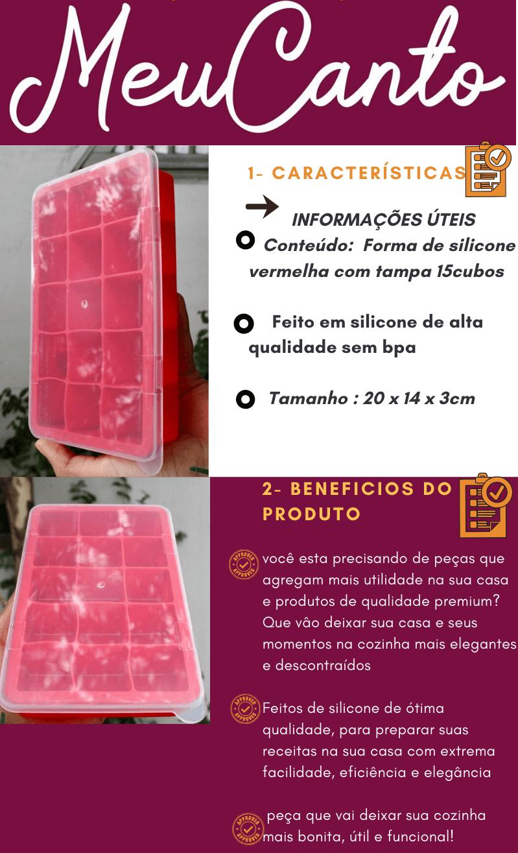 forma de gelo de silicone 15 cubos Mimo Style