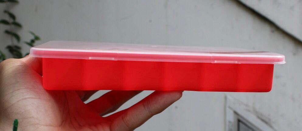 forma de gelo de silicone 24 cubos Mimo Style com tampa