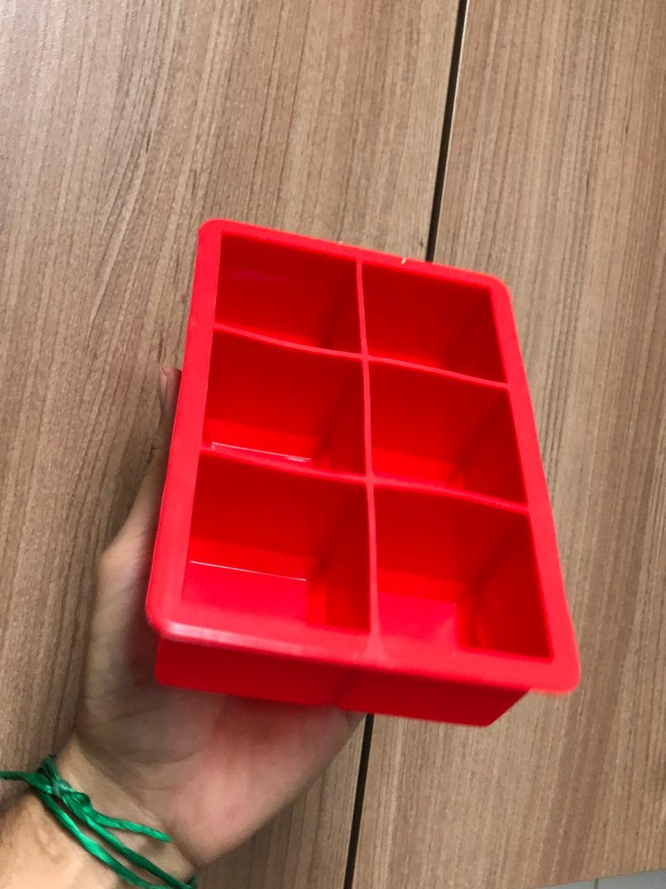forma de gelo de silicone quadrada 6 cubos Mimo Style sem bpa forminhas para gelo