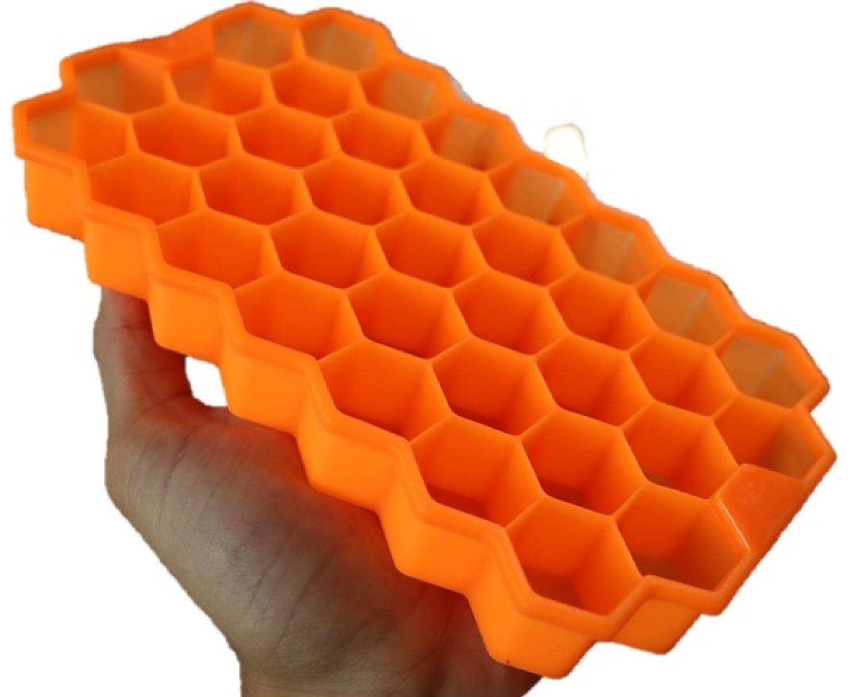forma de gelo silicone papinha 37 cubos laranja sem bpa forminhas para gelo