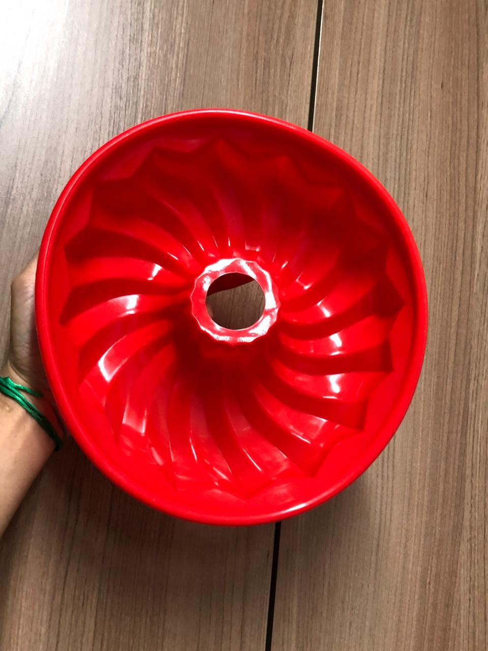 Forma de silicone bolo pudim assadeira antiaderente 25cm grande
