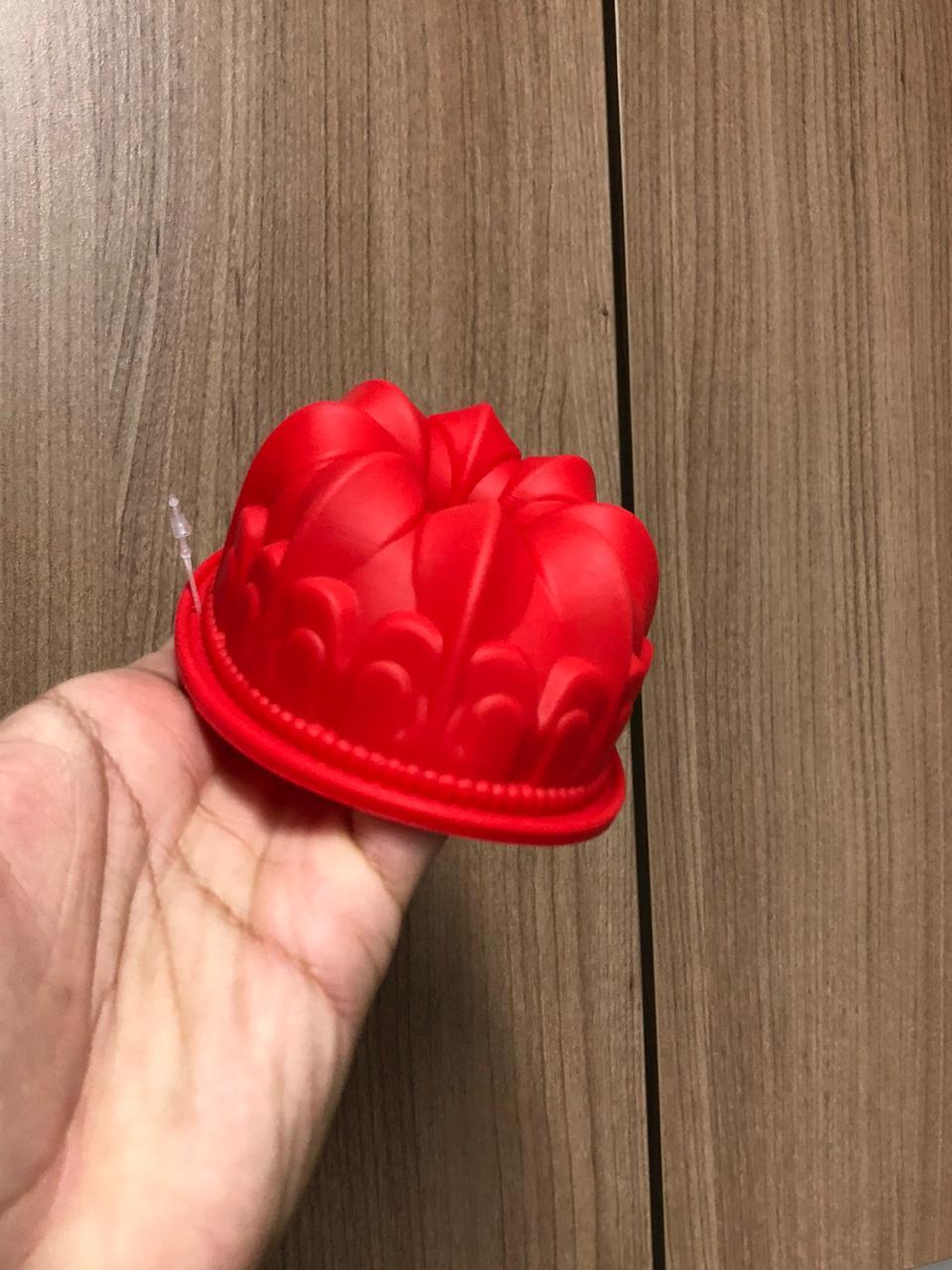 Forma de silicone bolo pudim assadeira antiaderente 11cm pequena livre de bpa