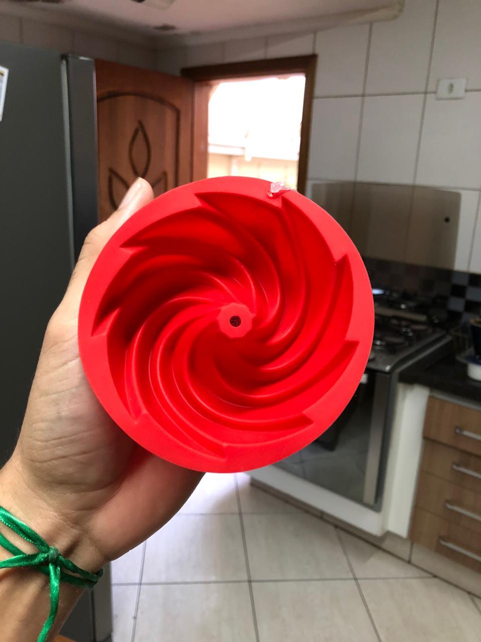 Forma de silicone flan bolo pudim assadeira antiaderente 11cm pequena livre de bpa