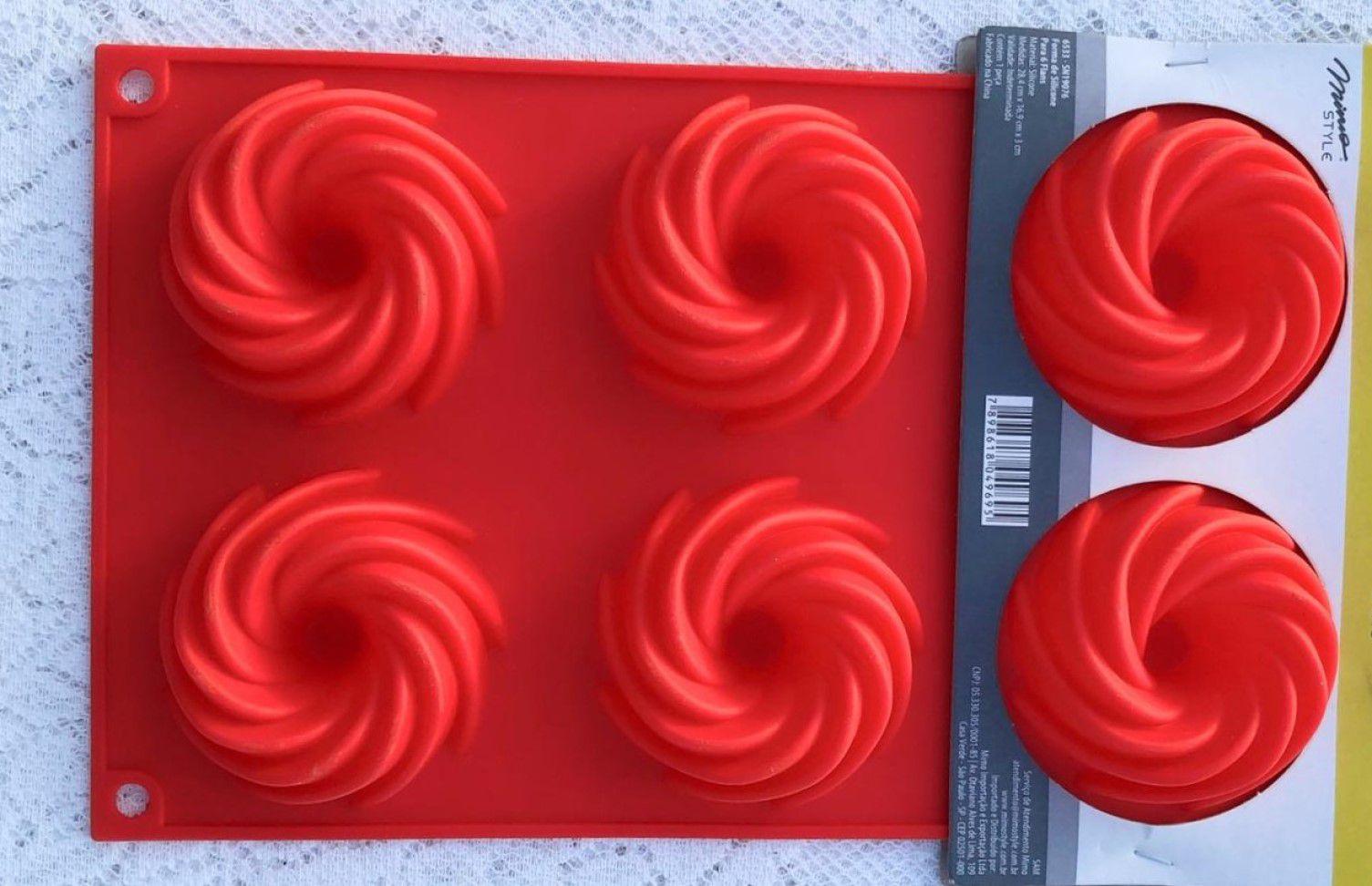 Forma de silicone Flan cupcake Mimo Style antiaderente