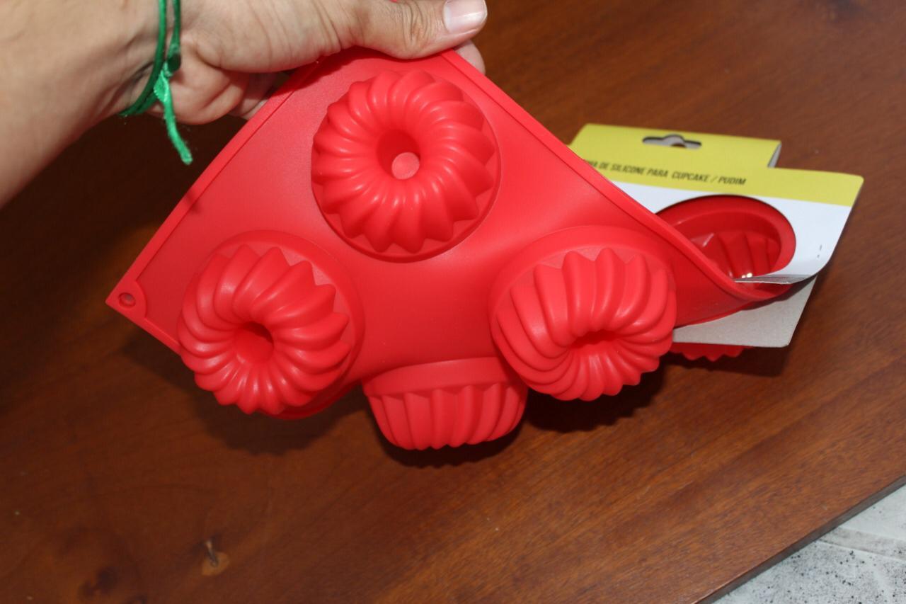 Forma de silicone cupcake minibolo MimoStyle antiaderente