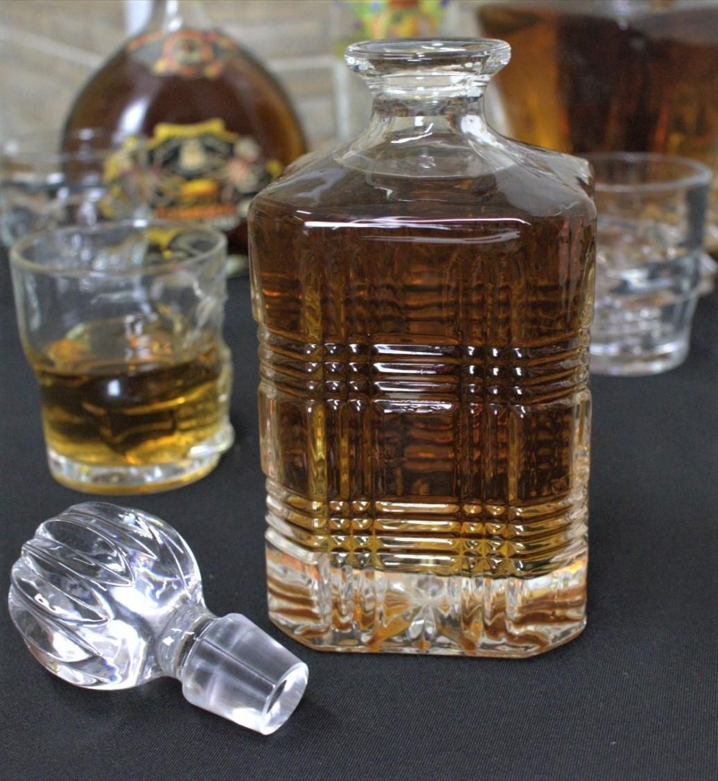 Garrafa de whisky licoreira de cristal ecologico retrô vintage licor garrafas de bebidas 787ml