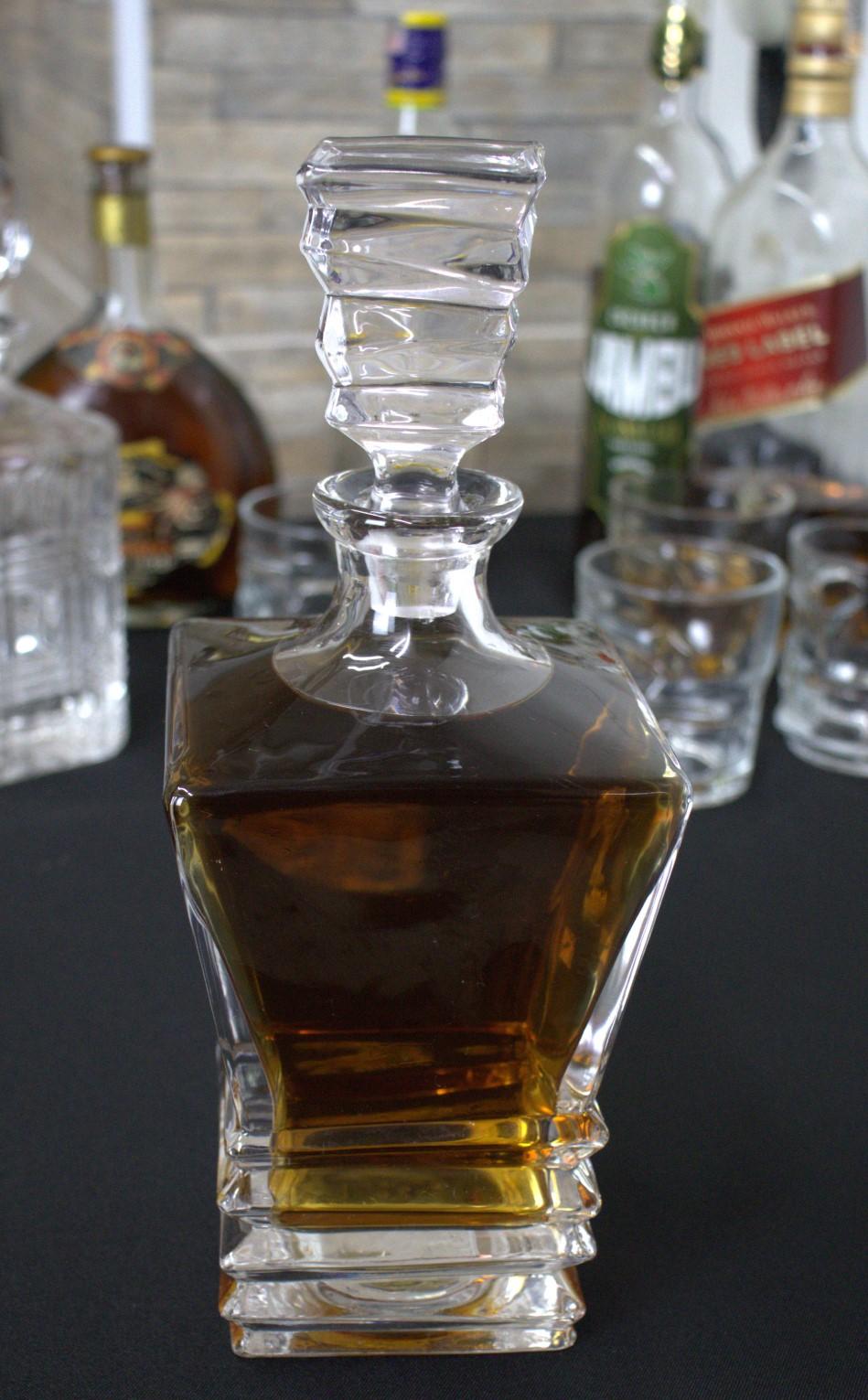 Garrafa de whisky licoreira de cristal ecologico retrô vintage licor garrafas de bebidas 840ml
