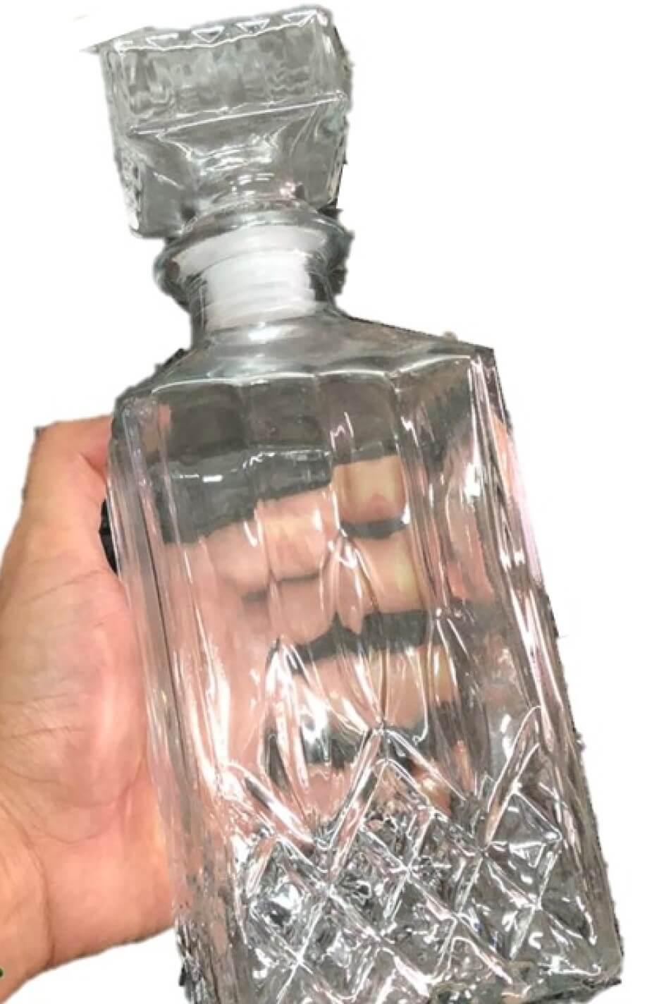 Garrafa de whisky licoreira de vidro retrô vintage licor garrafas de bebidas 700ml