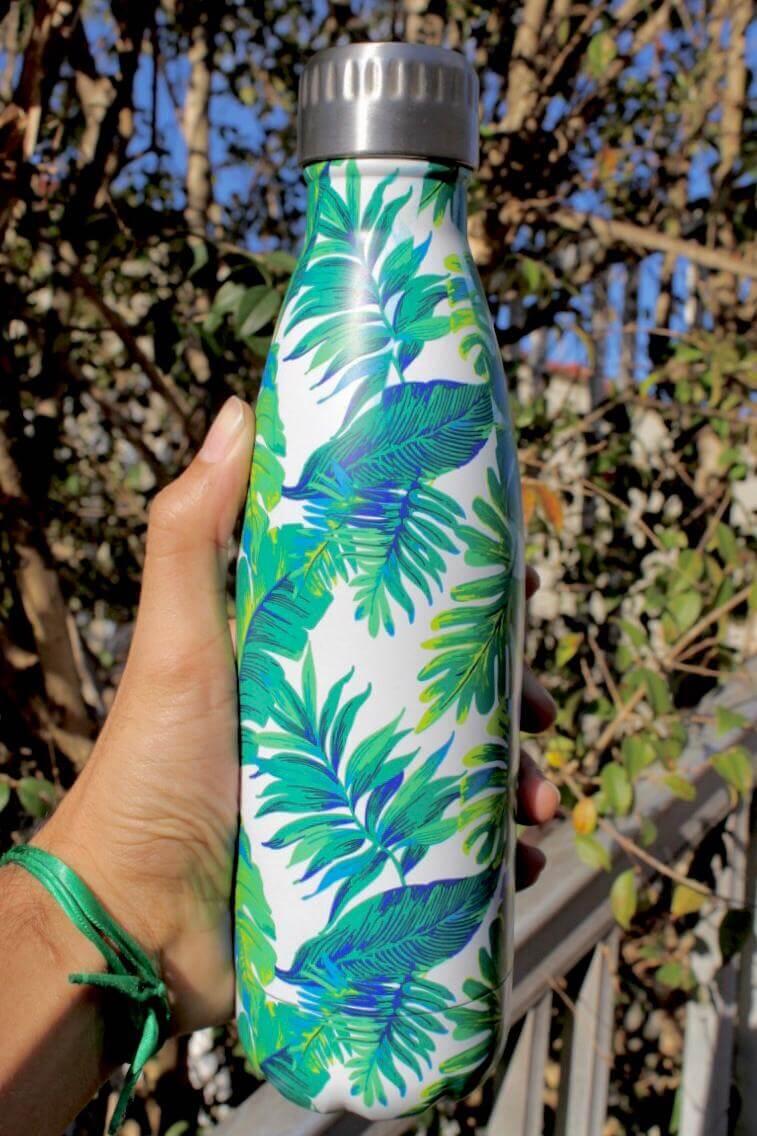 Garrafa Térmica Aço Inox 500mL  Água Gelada por mais tempo estampa Tropical
