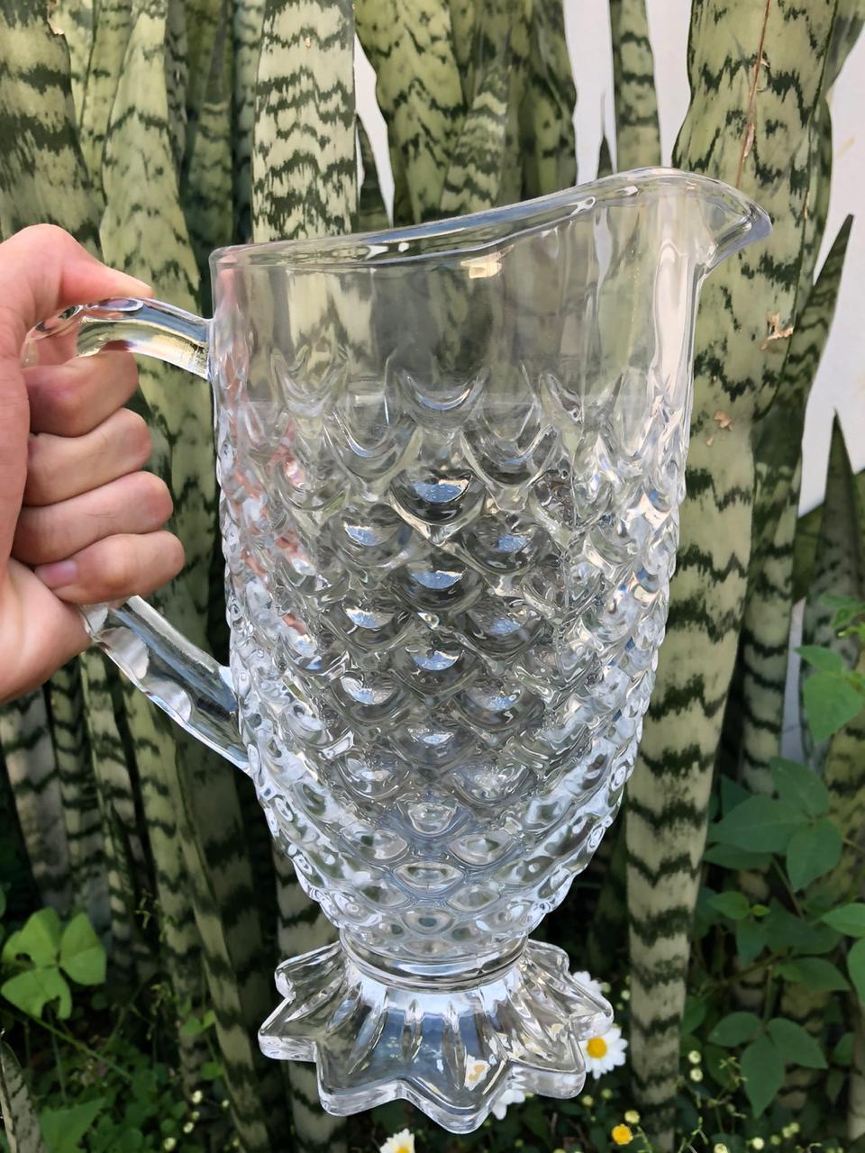jarra + taças de vidro para água suco 4 unidades  4x230mL e 1250mL