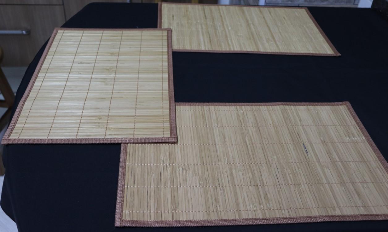 jogo americano cozinha de bambu 6 peças lugar americano limpa fácil