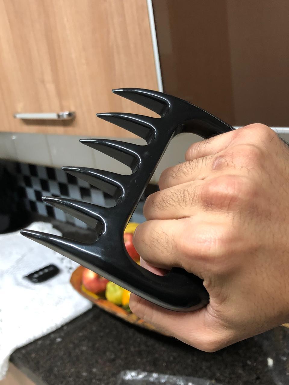 Jogo Garra De Urso Churrasco Reforçado Atóxica desfiar carne Cozinha preta