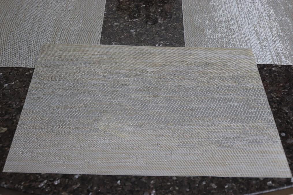 jogo lugar americano 6 peças retangular prata cozinha mesa limpa fácil