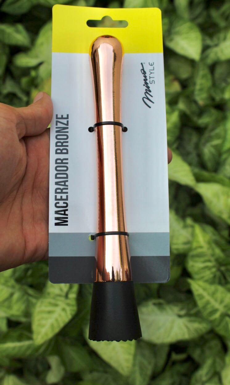 macerador socador de caipirinha Mimo Style para drinks e cozinha inox cobre rose