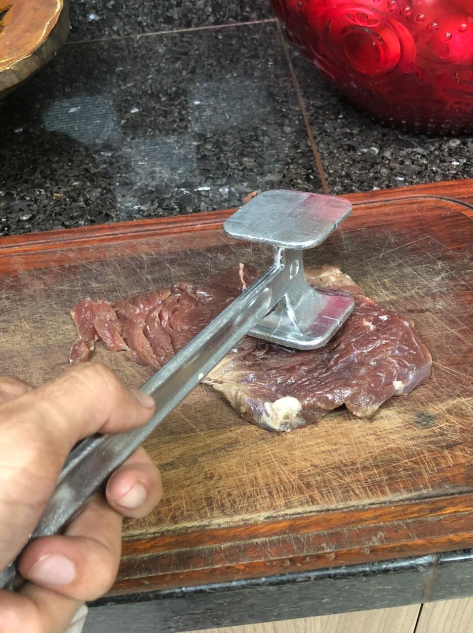 Martelo para carne batedor amaciador bife 22 cm alumínio