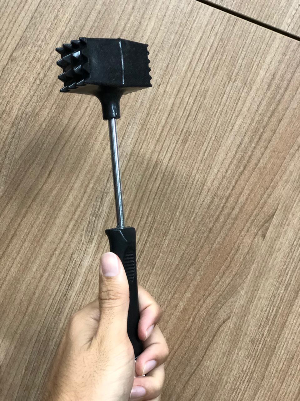 Martelo para carne batedor amaciador bife inox 25 cm