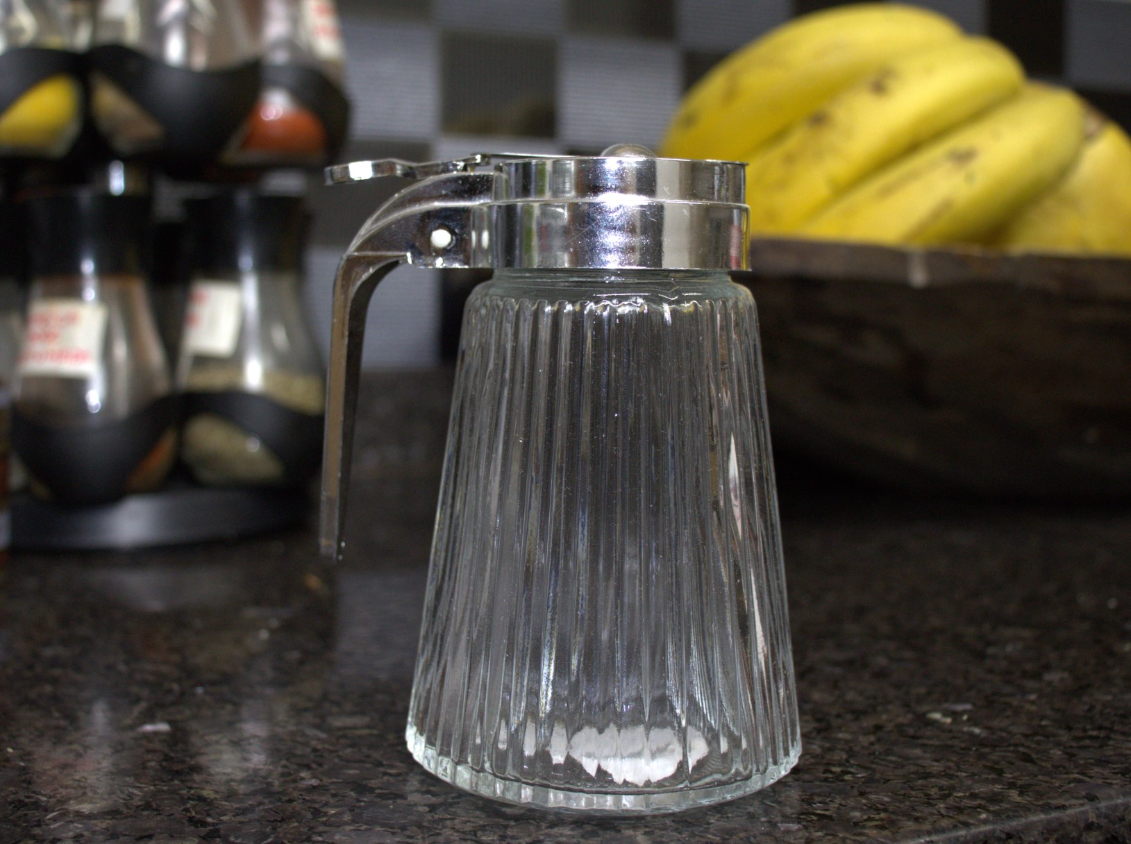meleira de vidro porta mel com tampa inox 270mL
