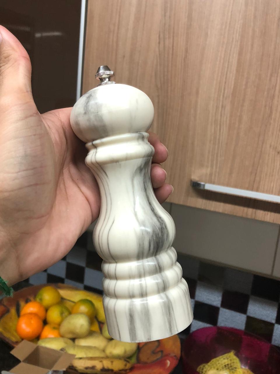 moedor de pimenta temperos sal grosso 17cm triturador de saleiro especiarias