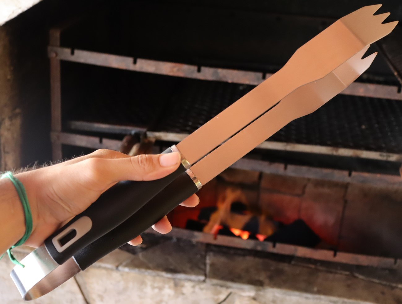 Pegador churrasco carne 40cm
