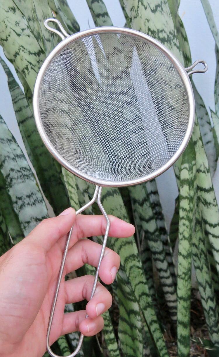 Peneira inox de cozinha 14cm MimoStyle escorrer macarrão