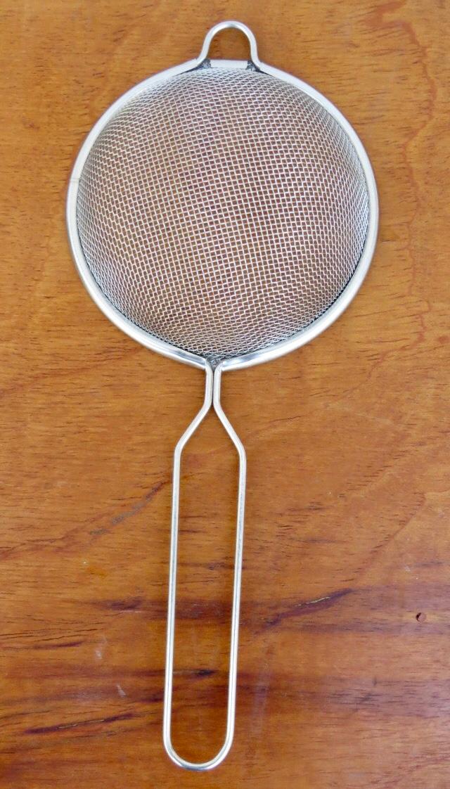 Peneira inox de cozinha coar 10cm MimoStyle escorrer macarrão