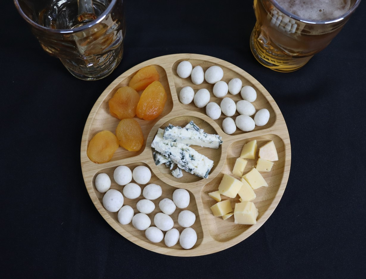 petisqueira de bambu madeira gamela petiscos frios queijos churrasco
