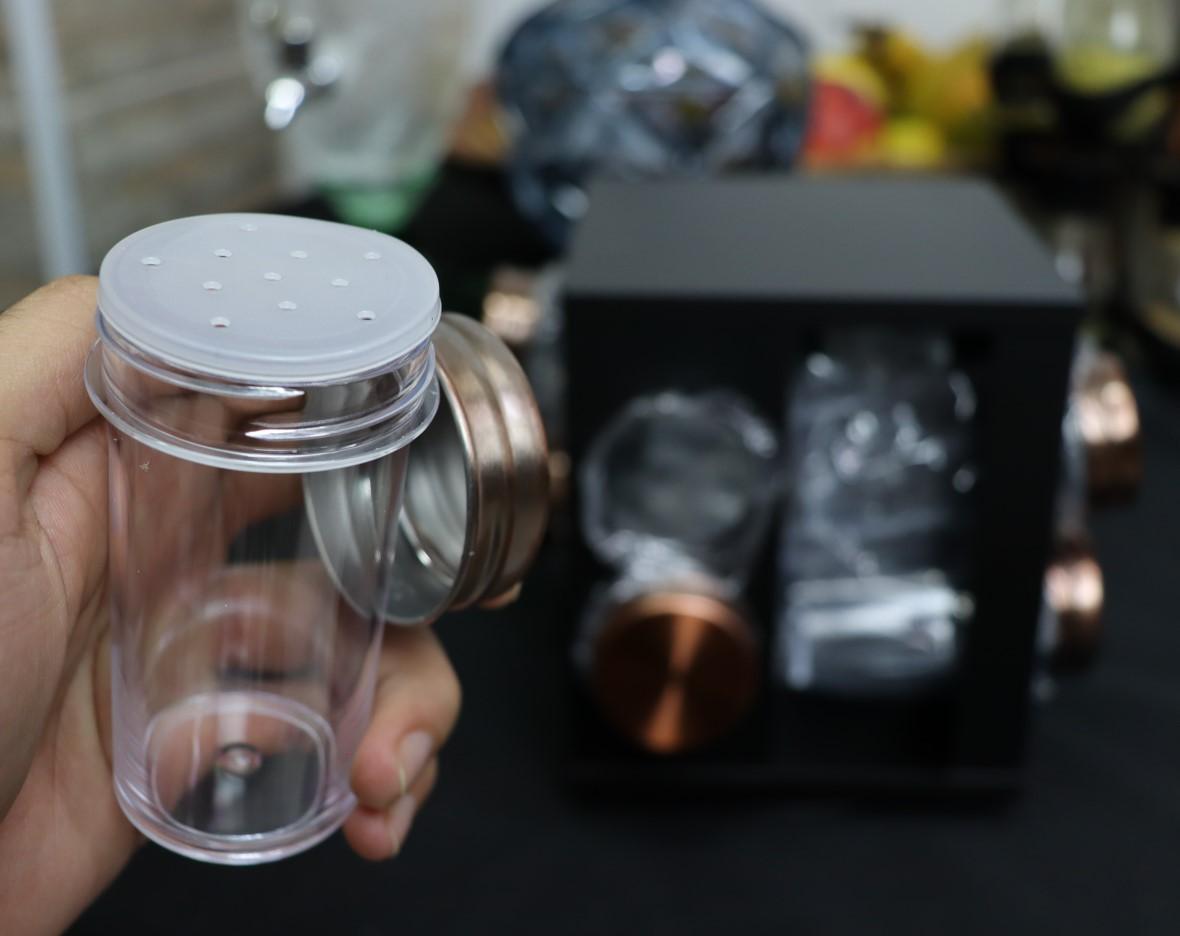 Porta organizador de temperos cozinha porta condimentos em inox preto giratório 8 peças