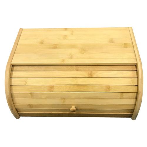 porta pão de bambu com tampa retratil cozinha café  guarda pão