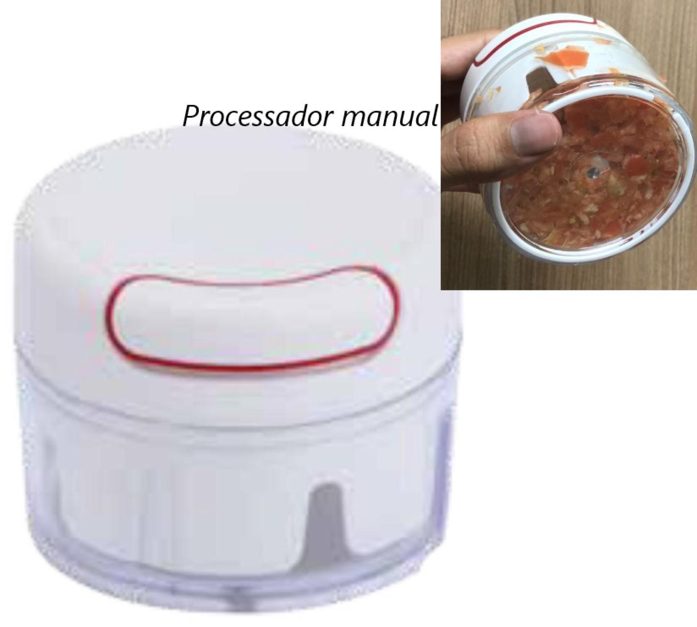 processador cortador de legumes semiautomatico branco picador de legumes