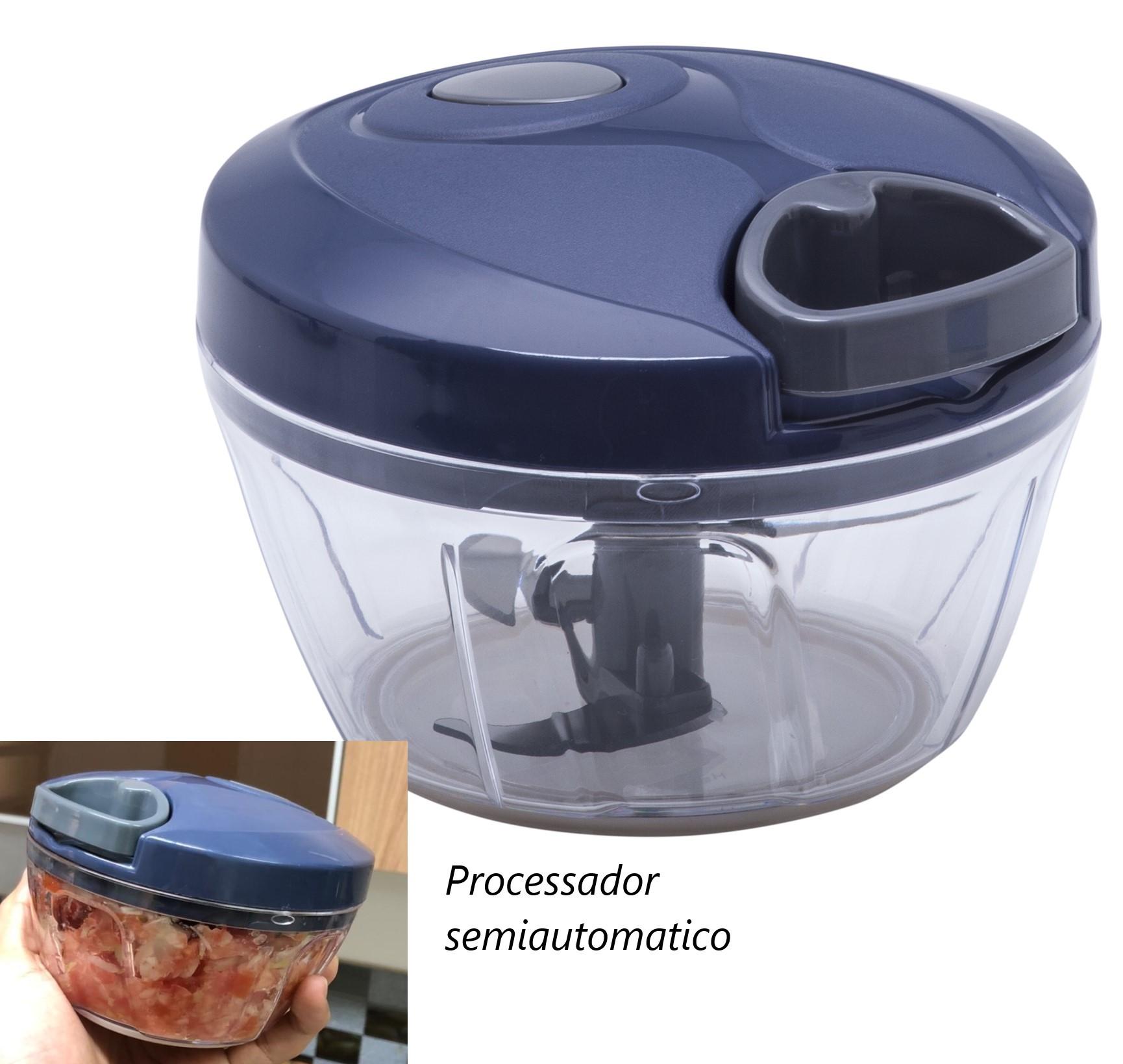 processador cortador de legumes semiautomatico picador de legumes azul