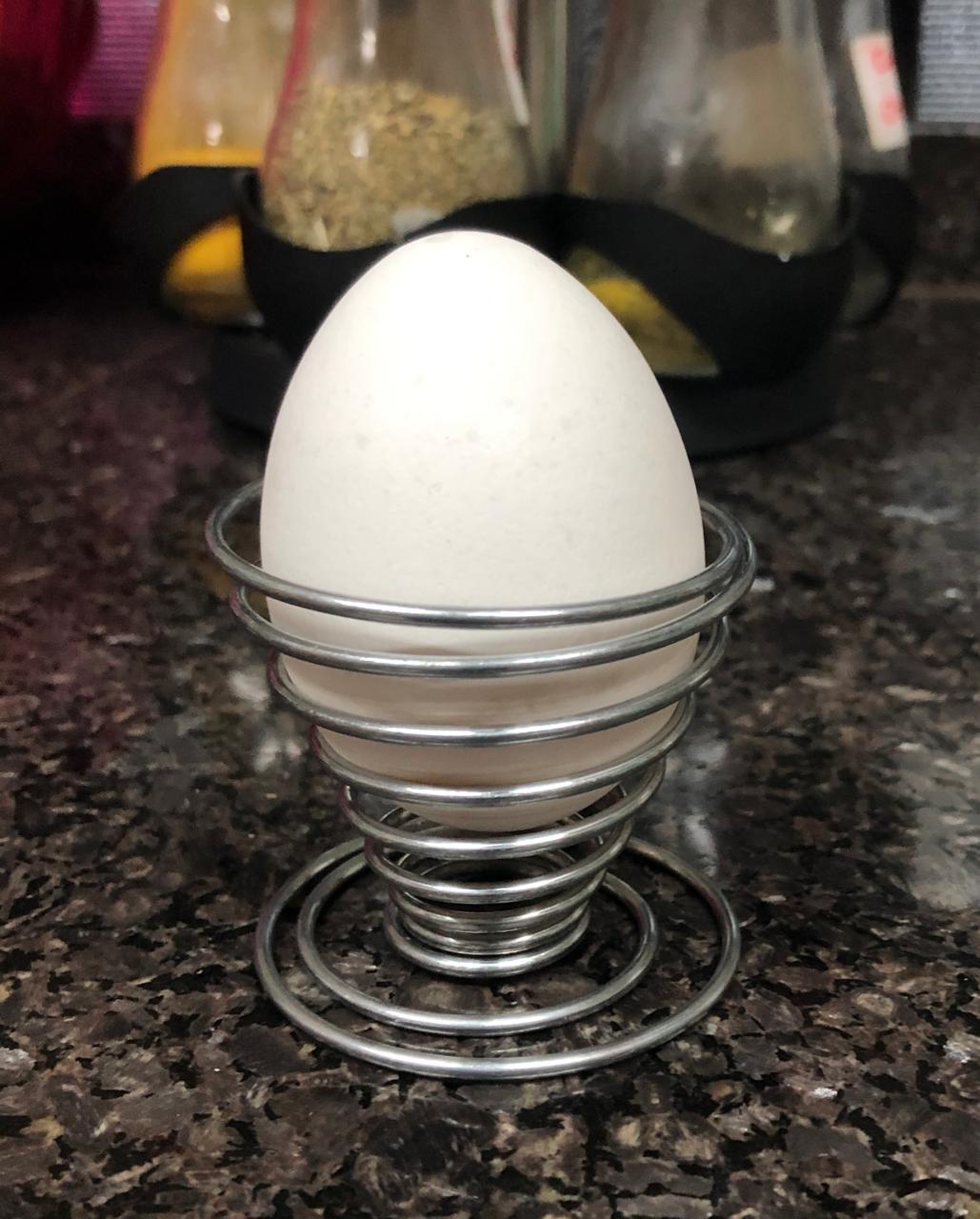 suporte para ovos cozidos kit 4 porta ovos em inox espiral