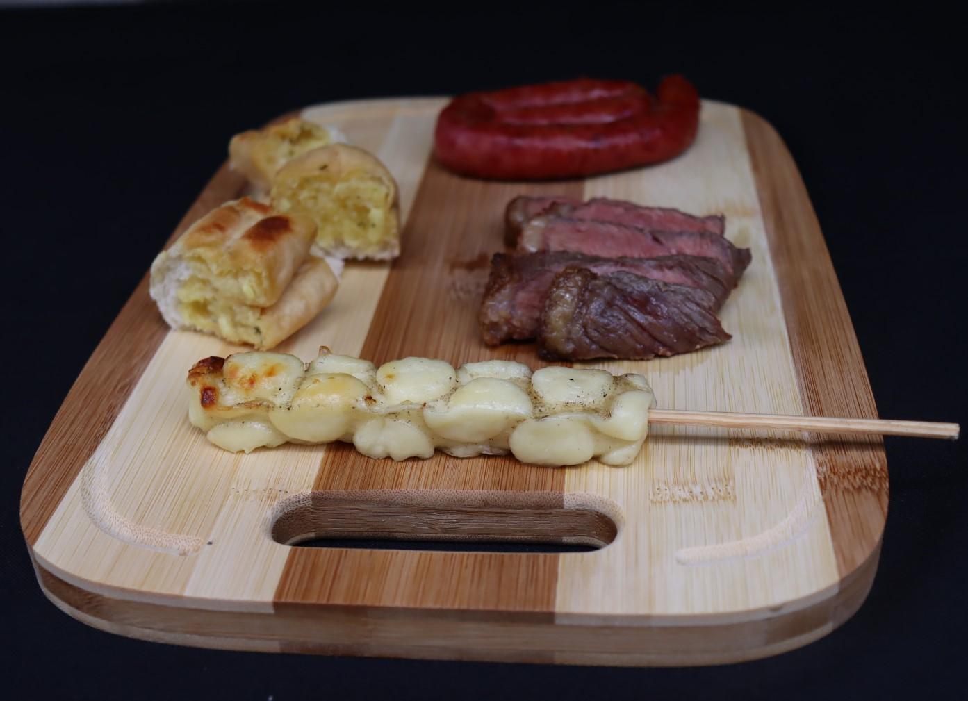 tabua de corte carne cozinha bambu madeira rustico higienica 34x24cm taboa de churrasco