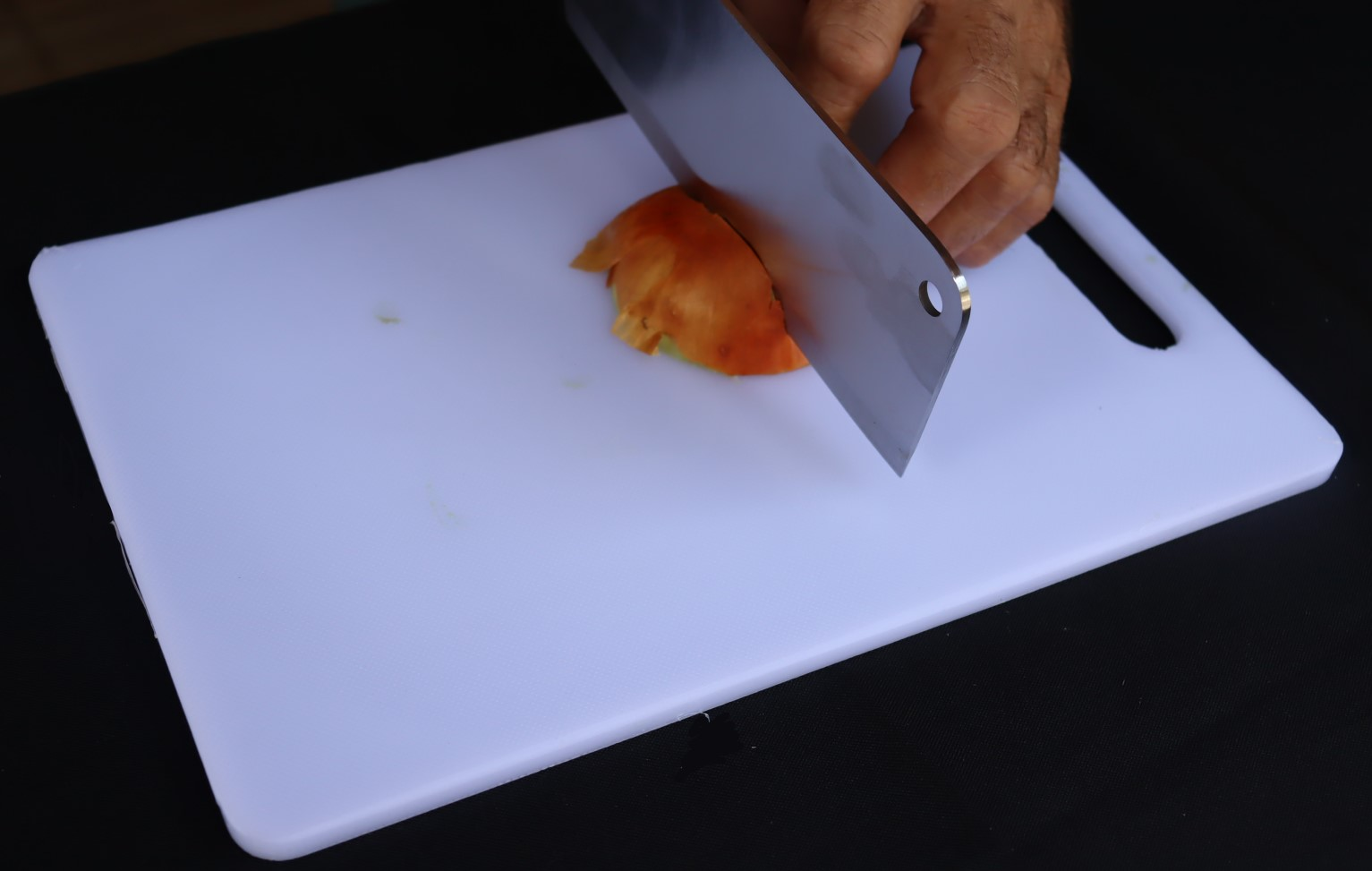 tabua de corte carne cozinha pvc branca higienica 20x30cm taboa de churrasco