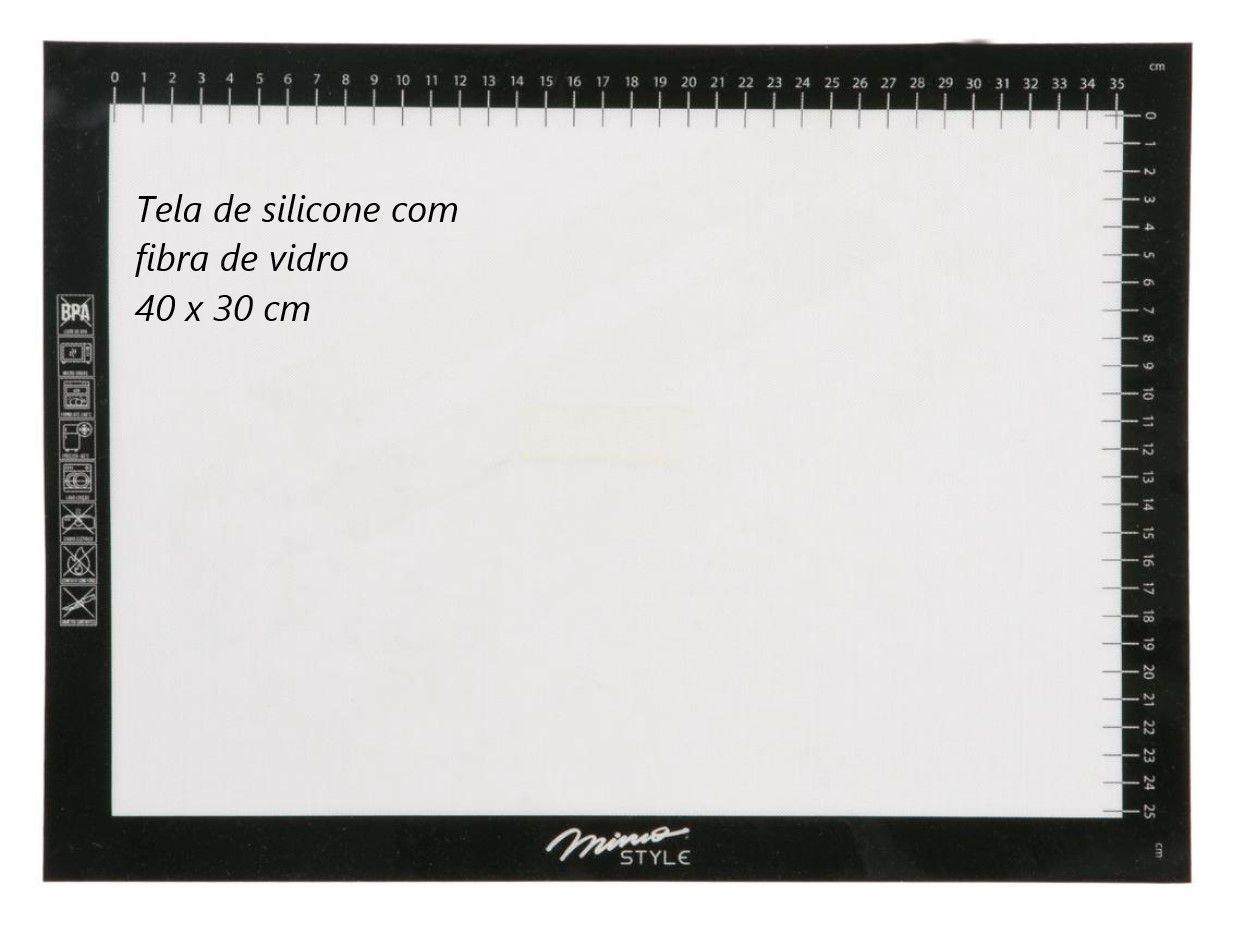 Tapete anti aderente culinário de silicone com fibra de vidro 30 x 40 cm MimoStyle