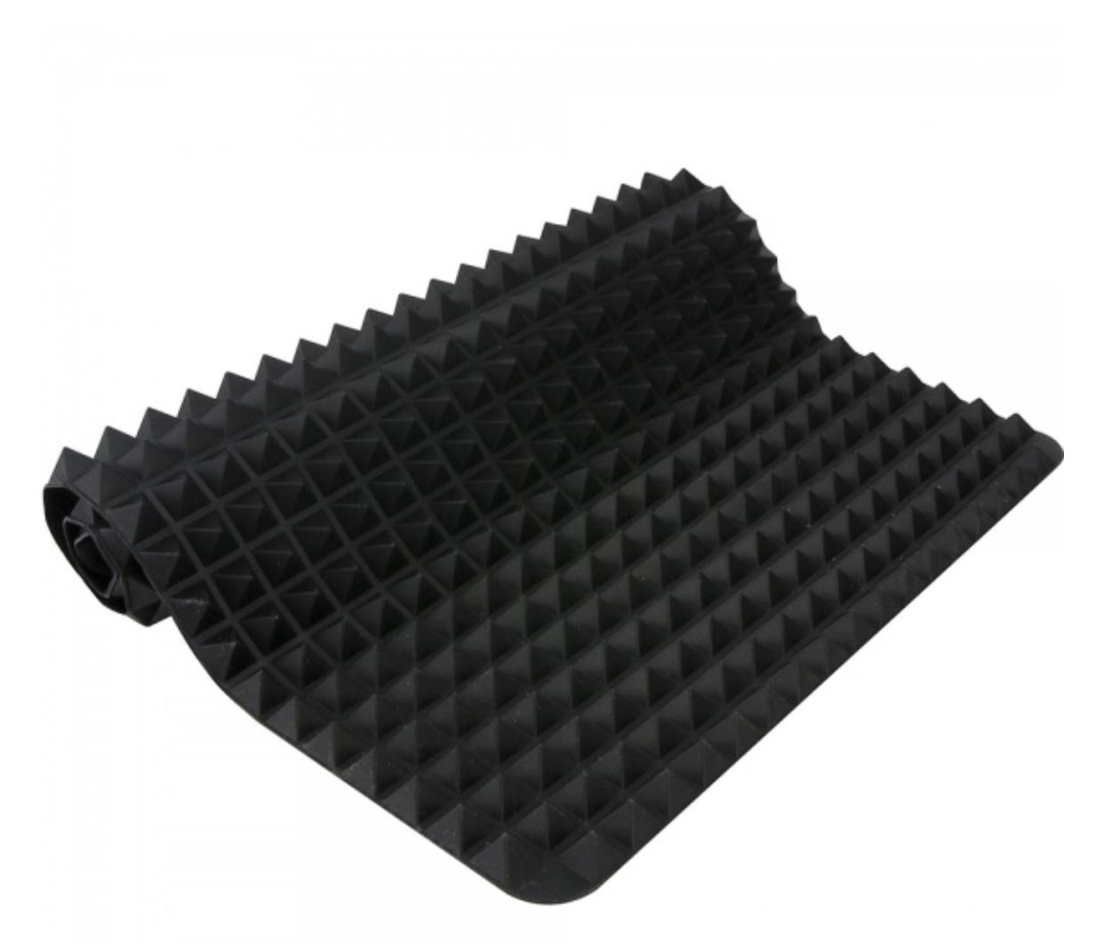 tapete culinário de silicone anti-aderente para forno 40 x 28 cm preto