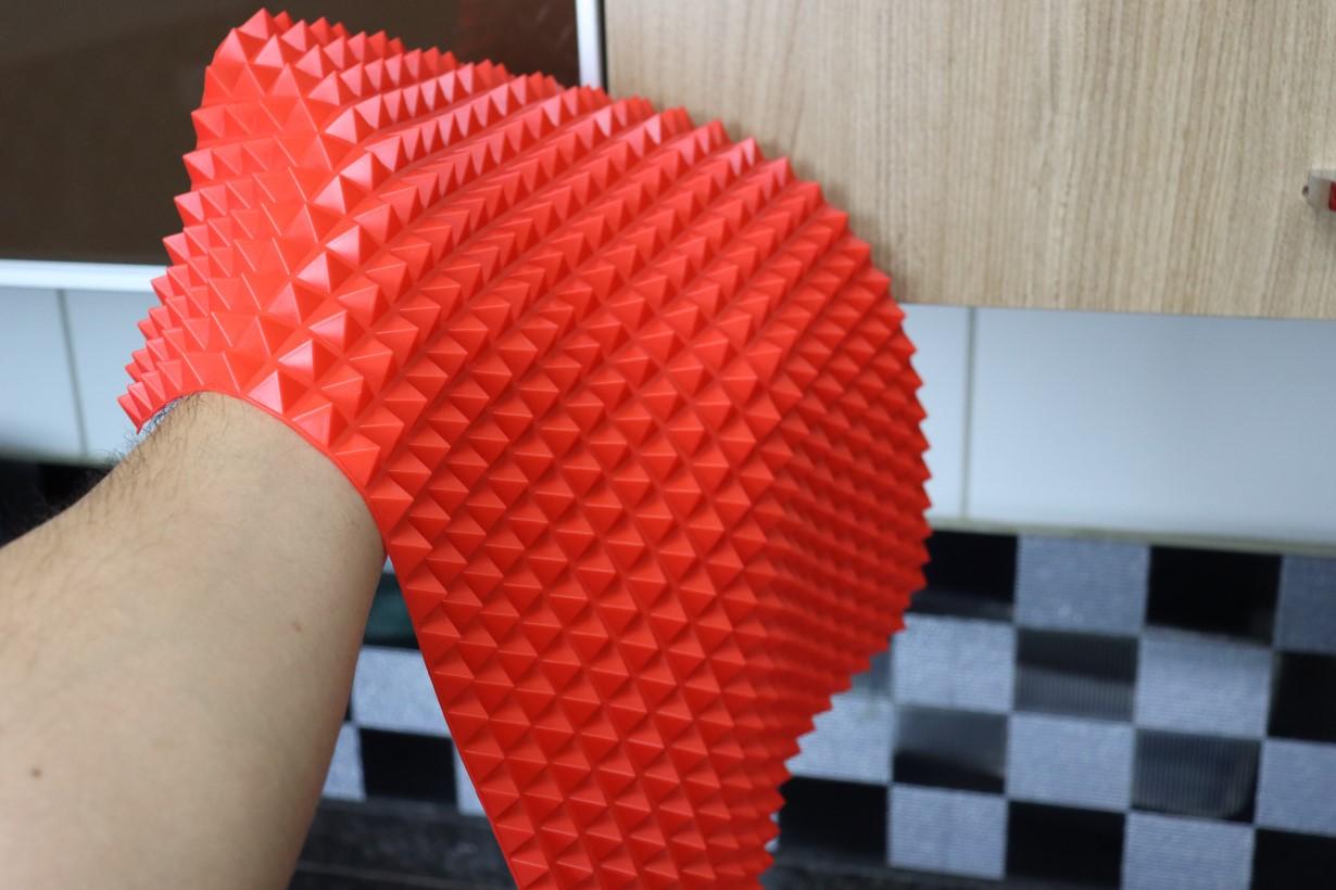 tapete culinário de silicone anti-aderente para forno 40 x 28 cm vermelho