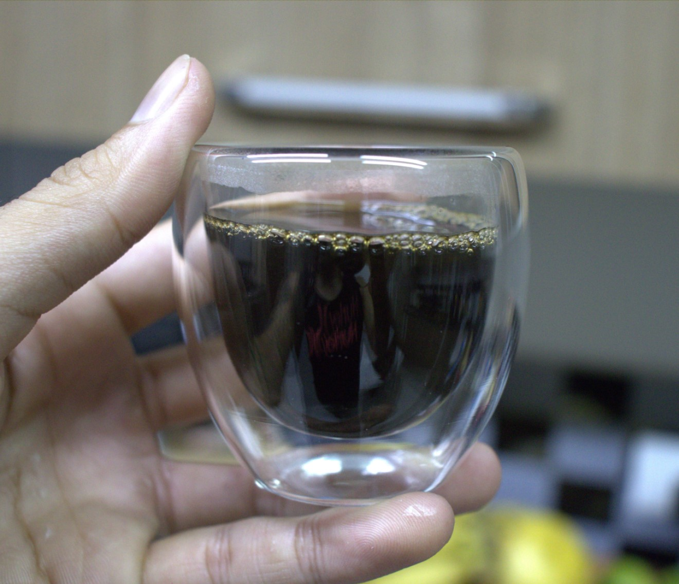 Xícara de café 2 unidades parede dupla camada de vidro 80mL