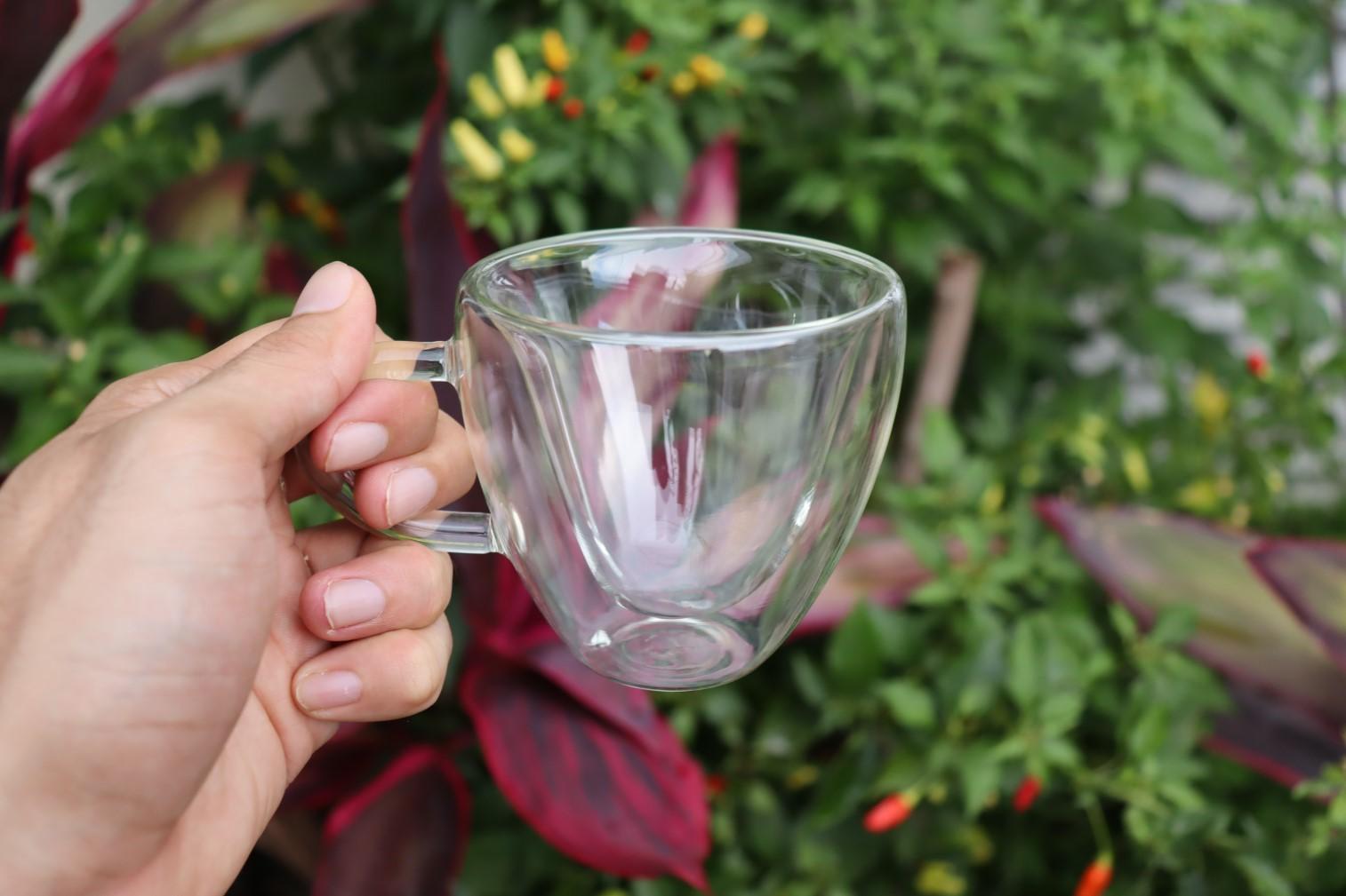 xícara de café parede dupla camada de vidro 2 unidades 150mL caneca de cafe nespesso dolcegusto